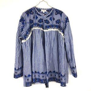 Velzera cotton embroidered jacket